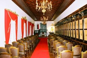 Valvasorjeva knjižnica, danes poročna dvorana na gradu Bogenšperk