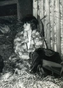Slika je nastala leta 1988 na Čatežu, ko smo še iskali pot in potem prespali v seniku.