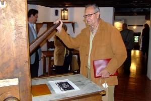 Egon Erlich, Valvasorjev šestkrat pravnuk na gradu Bogenšperk