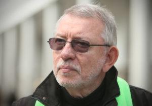 Miha Jazbinšek mestni svetnik, džezist in kandidat za novega ljubljanskega župana. Ljubljana, Slovenija 19.septembra 2014.